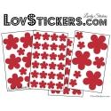54 Fleurs Stickers - Autocollant decoration modèle fleur No2b