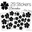 29 Stickers Fleurs 5CM 4CM 3CM - Autocollant Fleur pétale coeur