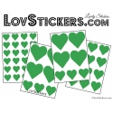 Stickers coeur de decoration Vinyle adhesif autocollant