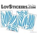 Stickers pean de Zèbre - Vinyle autocllant pour décoration intèrieur