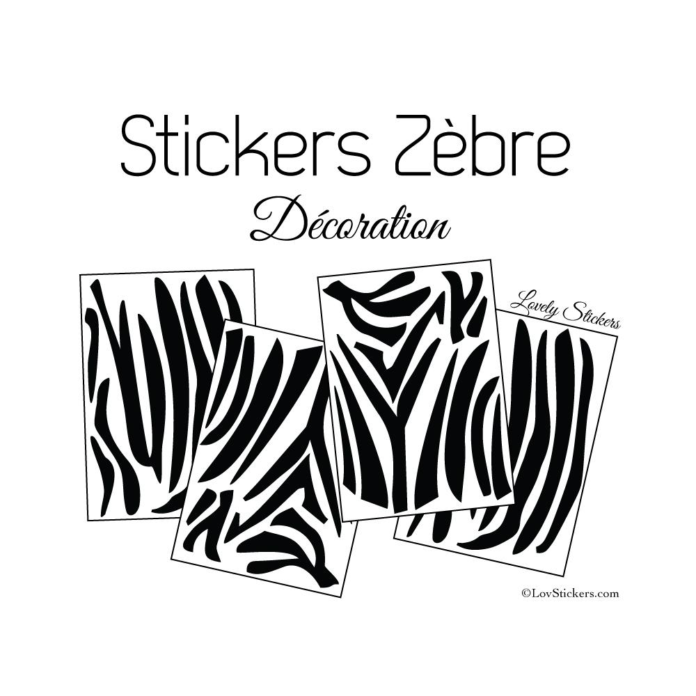 Sticker peau de zèbre - Autocollant LovStickers.com