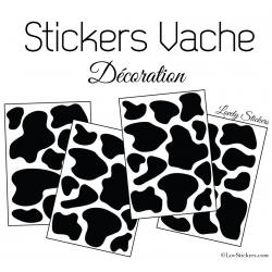 Sticker peau de vache - Autocollant LovStickers.com
