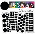 116 Stickers Ronds Mixte - Autocollant Décoration Intérieur