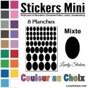 416 Stickers Ovale Mixte - Décoration Gommette Loisirs - Vinyle Repositionnable