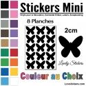120 Stickers Papillon 2cm - Décoration Gommette Loisirs - Vinyle Repositionnable