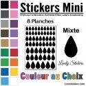 464 Stickers Goutte d'eau mixte - Décoration Gommette Loisirs - Vinyle Repositionnable