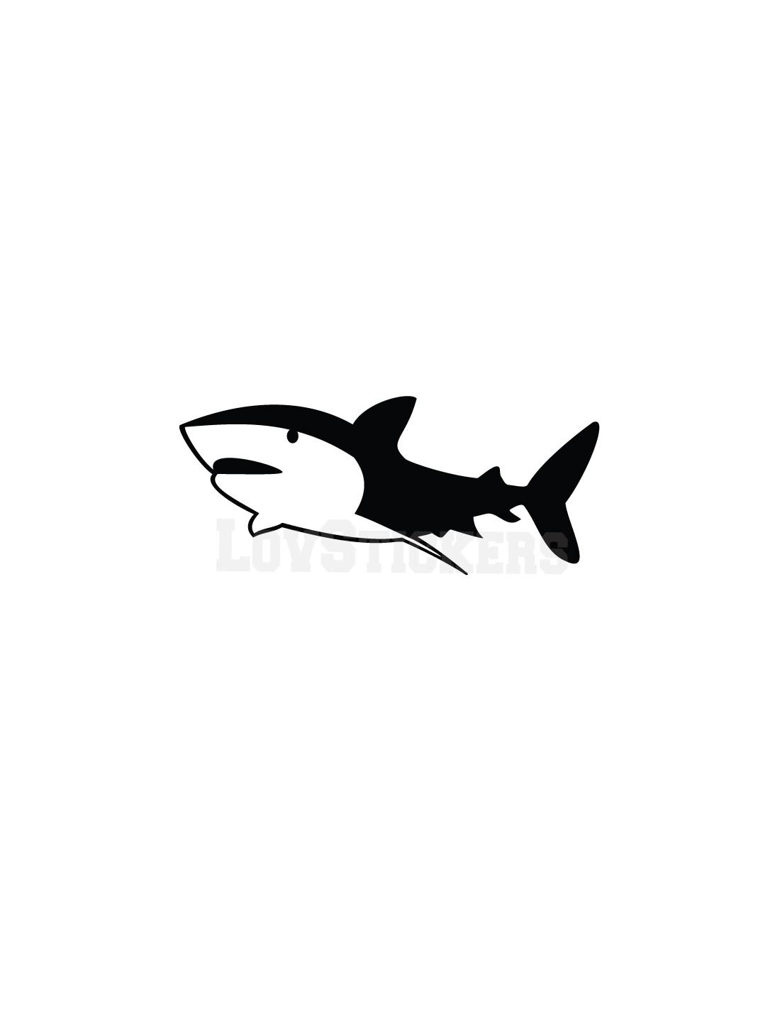 Sticker de d coration for Requin decoration