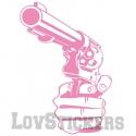Stickers Main tenant un Pistolet - Décoration intérieur en Vinyle - Nombreux coloris