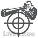 Stickers d'un Sniper - Décoration intérieur en Vinyle - Nombreux coloris