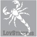 Stickers d'un Scorpion Tribal Tatouage - Décoration intérieur en Vinyle - Nombreux coloris Autocollant pas cher
