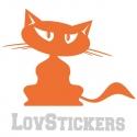 Stickers Chat - Autollant chambre enfant fille garcon - Décoration intérieur en Vinyle