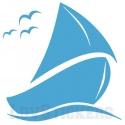 Stickers d'un bateau voilier, idéal pour deco chambre enfant ou salle de bain.