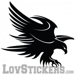 Stickers Aigle Tribal - Modèle tatouage - Décoration intérieur en Vinyle - Nombreux coloris
