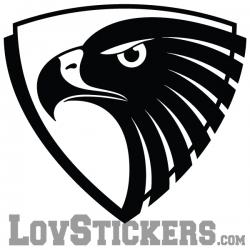Stickers Emblème Aigle - Décoration intérieur en Vinyle - Nombreux coloris