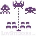 Sticker Space Invader - Décoration intérieur en Vinyle - Nombreux coloris