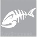 Sticker Poisson Squelette - Décoration intérieur en Vinyle - Nombreux coloris