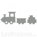 Sticker Petit Train - Décoration intérieur en Vinyle - Nombreux coloris