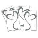 4 Stickers Coeur - Autocollant de Decoration pour auto voiture