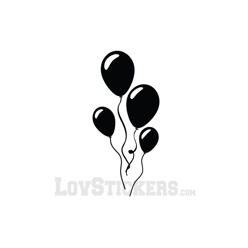Sticker Ballons - Décoration intérieur en Vinyle - Nombreux coloris