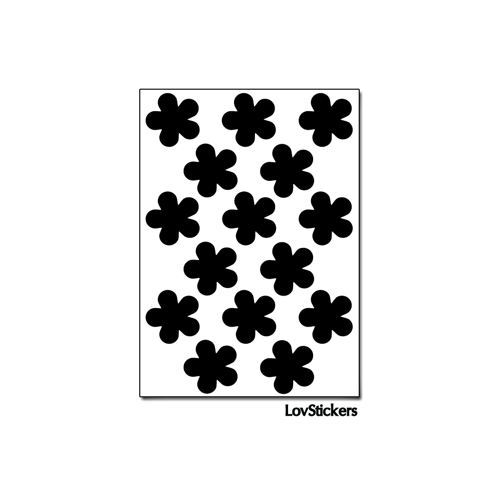 120 Stickers Fleur 1,8cm - Décoration Gommette Loisirs - Vinyle Repositionnable