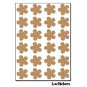 192 Stickers Fleur 1,5cm - Décoration Gommette Loisirs - Vinyle Repositionnable