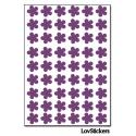 432 Stickers Fleur 1cm - Décoration Gommette Loisirs - Vinyle Repositionnable
