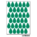 264 Stickers Goutte d'eau 1,8cm - Décoration Gommette Loisirs - Vinyle Repositionnable