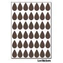 336 Stickers Goutte d'eau 1,5cm - Décoration Gommette Loisirs - Vinyle Repositionnable