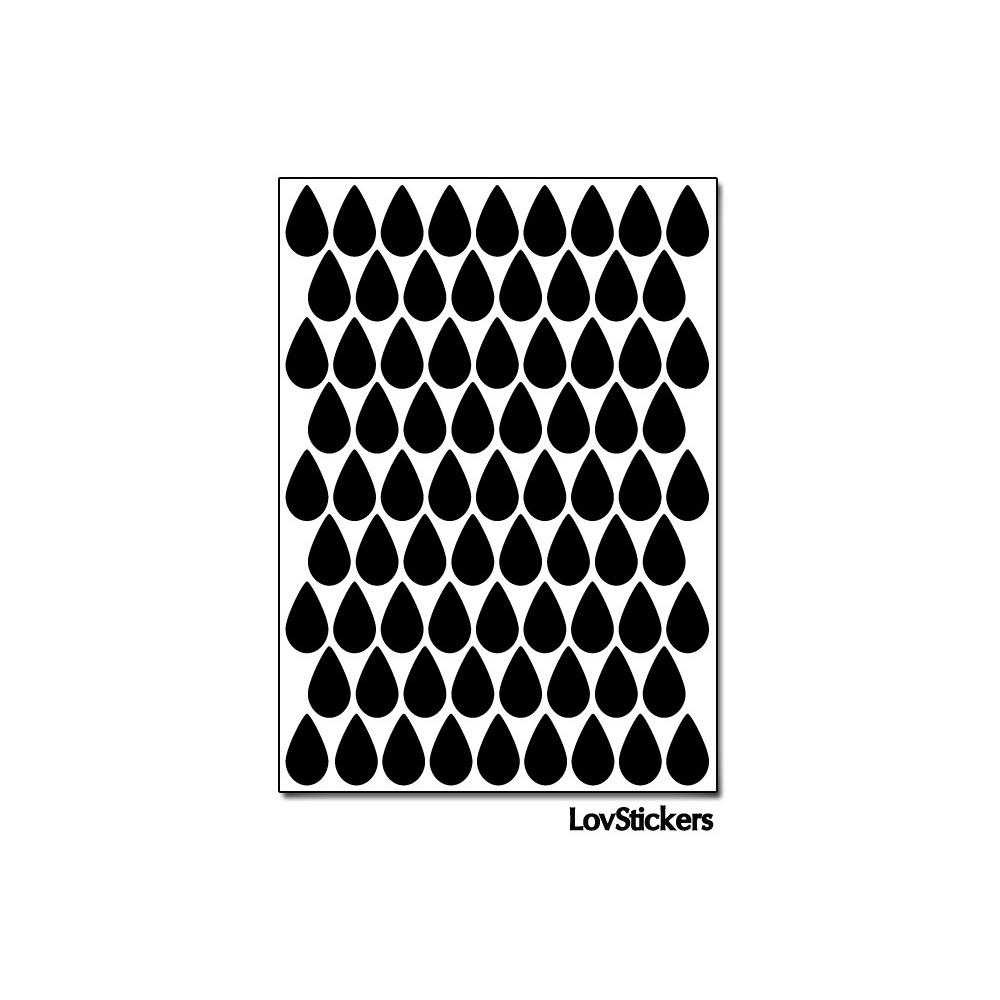 616 Stickers Goutte d'eau 1,2cm - Décoration Gommette Loisirs - Vinyle Repositionnable