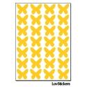 224 Stickers Papillon 1,4cm - Décoration Gommette Loisirs - Vinyle Repositionnable