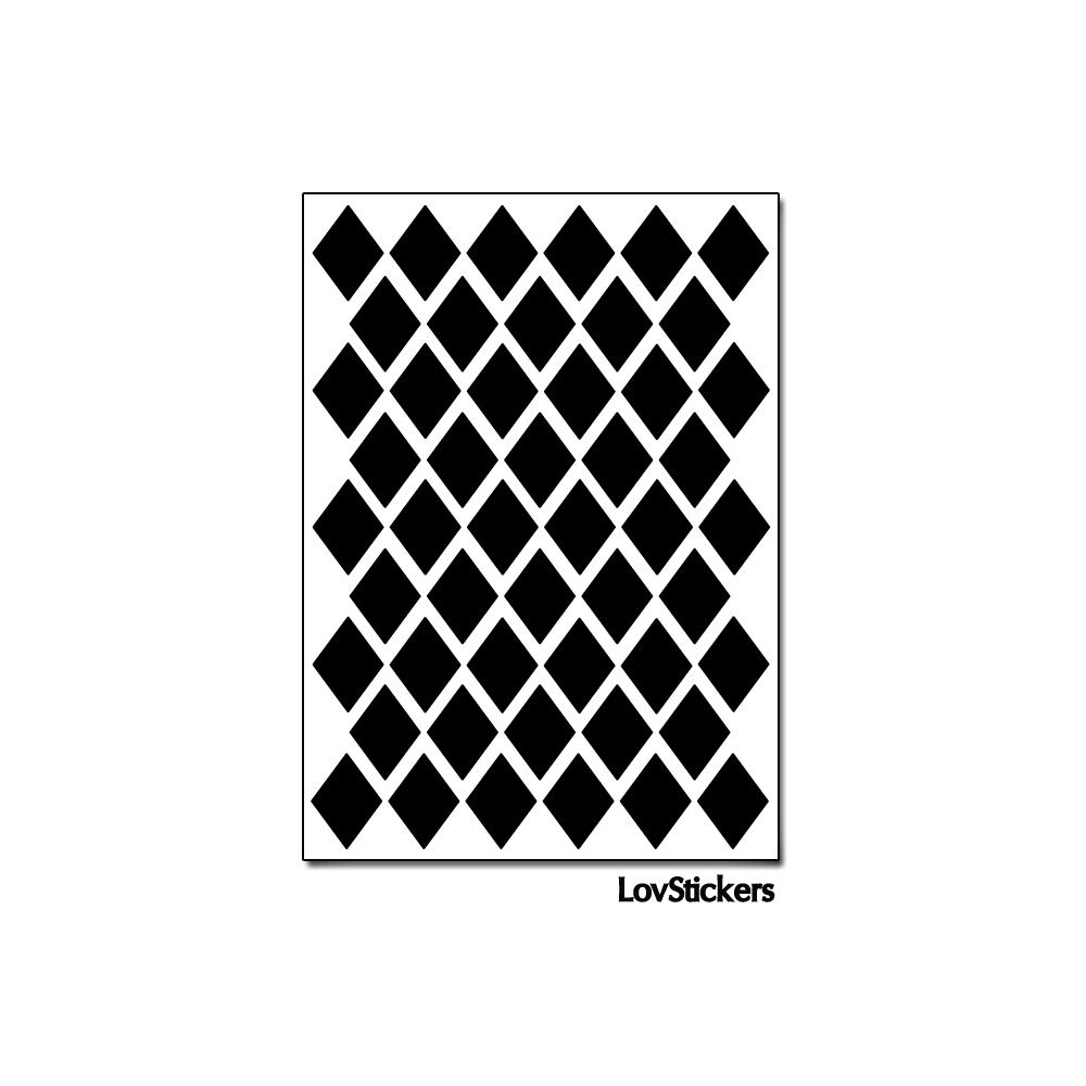 400 Stickers Losange 1,5cm - Décoration Gommette Loisirs - Vinyle Repositionnable