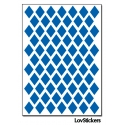 576 Stickers Losange 1,2cm - Décoration Gommette Loisirs - Vinyle Repositionnable