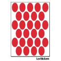 216 Stickers Ovale 1,8cm - Décoration Gommette Loisirs - Vinyle Repositionnable