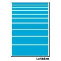 80 Stickers Lignes Mixte - Décoration Gommette Loisirs - Vinyle Repositionnable