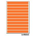 88 Stickers Ligne 0,8cm - Décoration Gommette Loisirs - Vinyle Repositionnable
