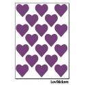 144 Stickers Coeur 1,8cm - Décoration Gommette Loisirs - Vinyle Repositionnable