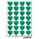 224 Stickers Coeur 1,5cm - Décoration Gommette Loisirs - Vinyle Repositionnable