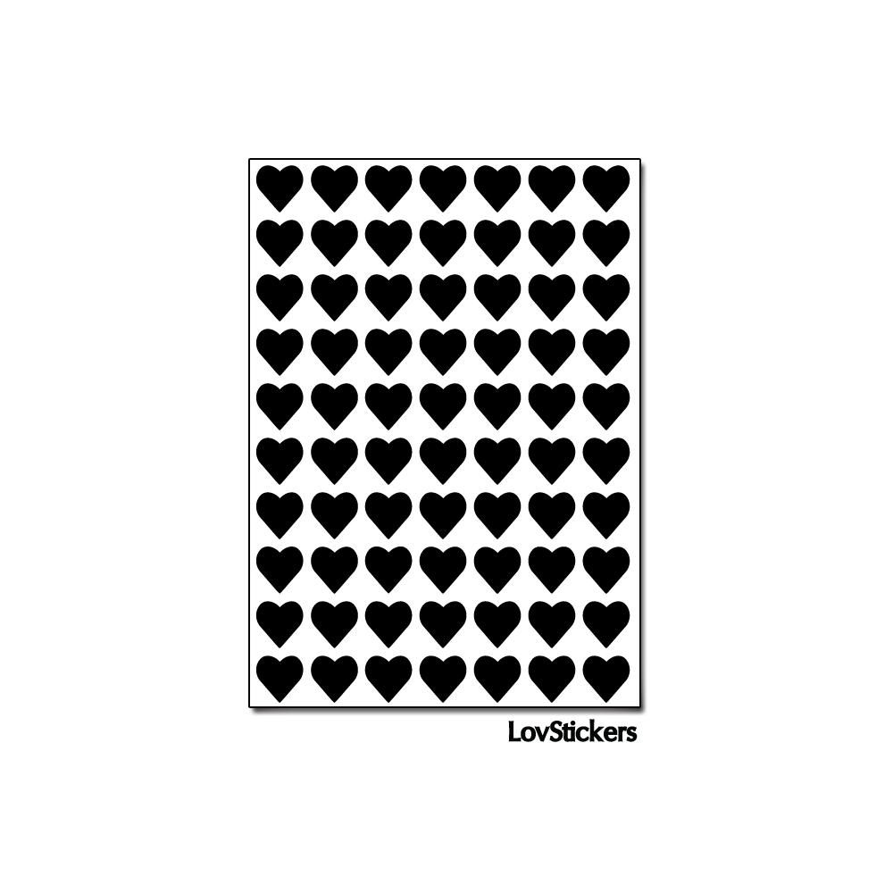 560 Stickers Coeur 0,8cm - Décoration Gommette Loisirs - Vinyle Repositionnable