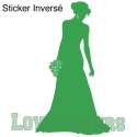 Stickers Femme en robe de mariée - Décoration intérieur en Vinyle - Nombreux coloris