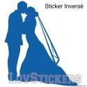 Stickers Couple de Marié - Décoration intérieur en Vinyle - Nombreux coloris