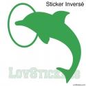 Stickers Dauphin dans cerceau - Décoration intérieur en Vinyle - Nombreux coloris