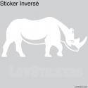 Stickers Rhinoceros - Décoration intérieur en Vinyle - Nombreux coloris