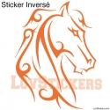 Stickers Tatouage Cheval - Décoration intérieur en Vinyle - Nombreux coloris