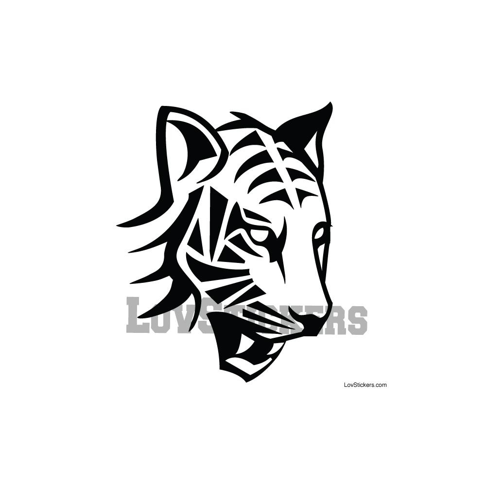 Stickers Tigre - Décoration intérieur en Vinyle - Nombreux coloris