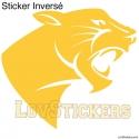 Stickers Panthère Tribal - Décoration intérieur en Vinyle - Nombreux coloris