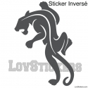 Stickers Panthère - Décoration intérieur en Vinyle - Nombreux coloris