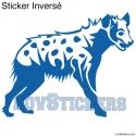 Stickers Hyène tachetée - Décoration intérieur en Vinyle - Nombreux coloris