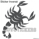 Stickers Scorpion Tribal Tatouage - Décoration intérieur en Vinyle - Nombreux coloris