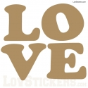 Sticker LOVE - Décoration intérieur en Vinyle - Nombreux coloris