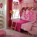 Sticker LOVE. Idée decoration chambre ado fille autocollant pas cher.
